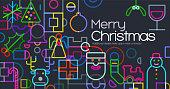 Geometric icon Christmas Greeting