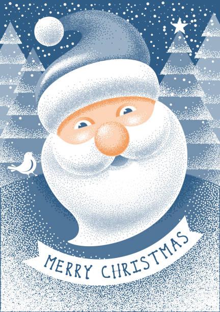 christmas greeting - secret santa messages stock illustrations