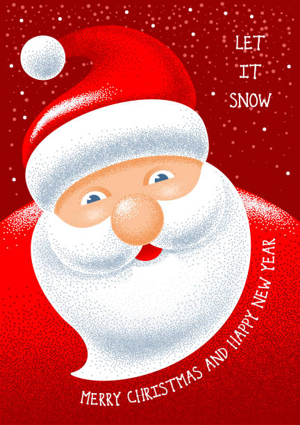 royalty free drawing of santa face template clip art vector images