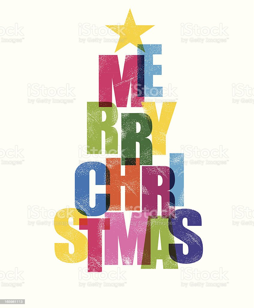 Christmas Greeting royalty-free stock vector art