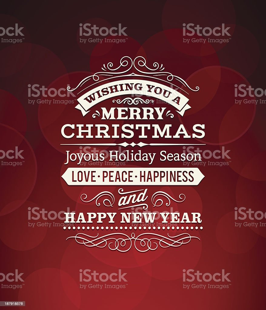 Christmas Greeting royalty-free stock vector art