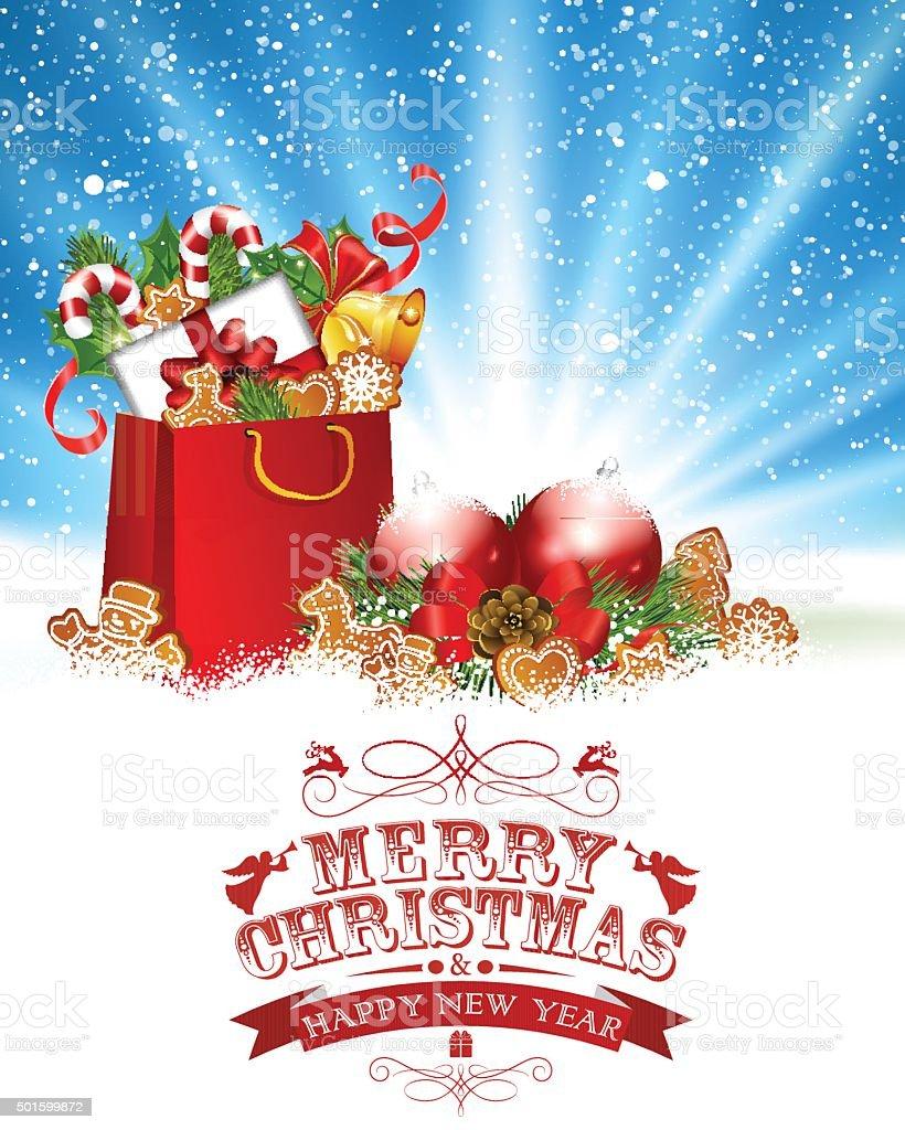 Weihnachten Begrüßung Stock Vektor Art und mehr Bilder von 2015 ...