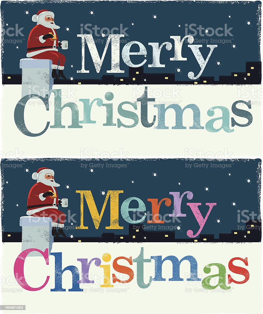 Christmas Greeting with Santa royalty-free christmas greeting with santa stock vector art & more images of celebration