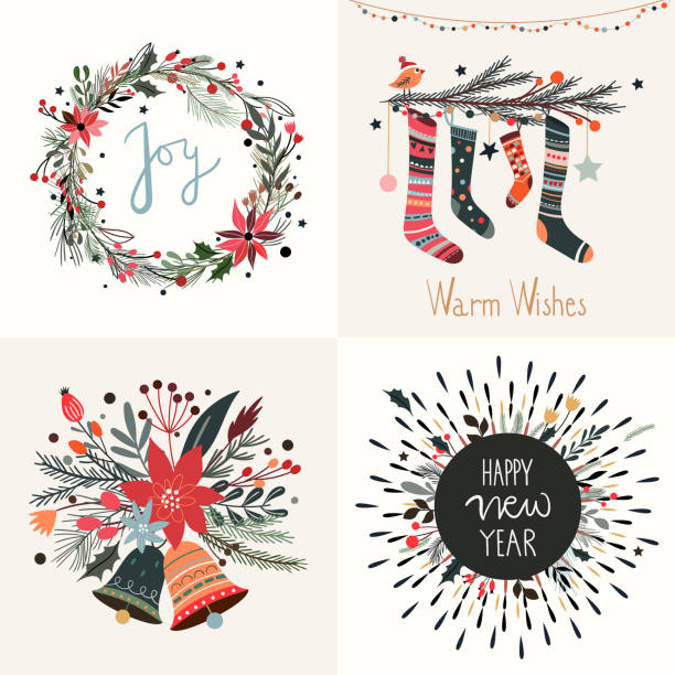 Top 60 Christmas Wreath Clip Art, Vector Graphics and ...