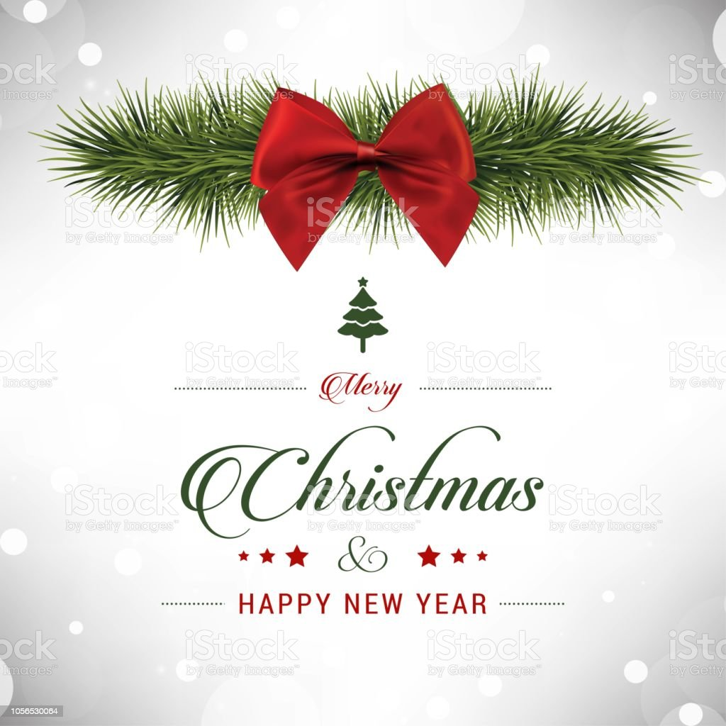 Christmas Greetings Background.Christmas Greetings Card Design With White Background Vector