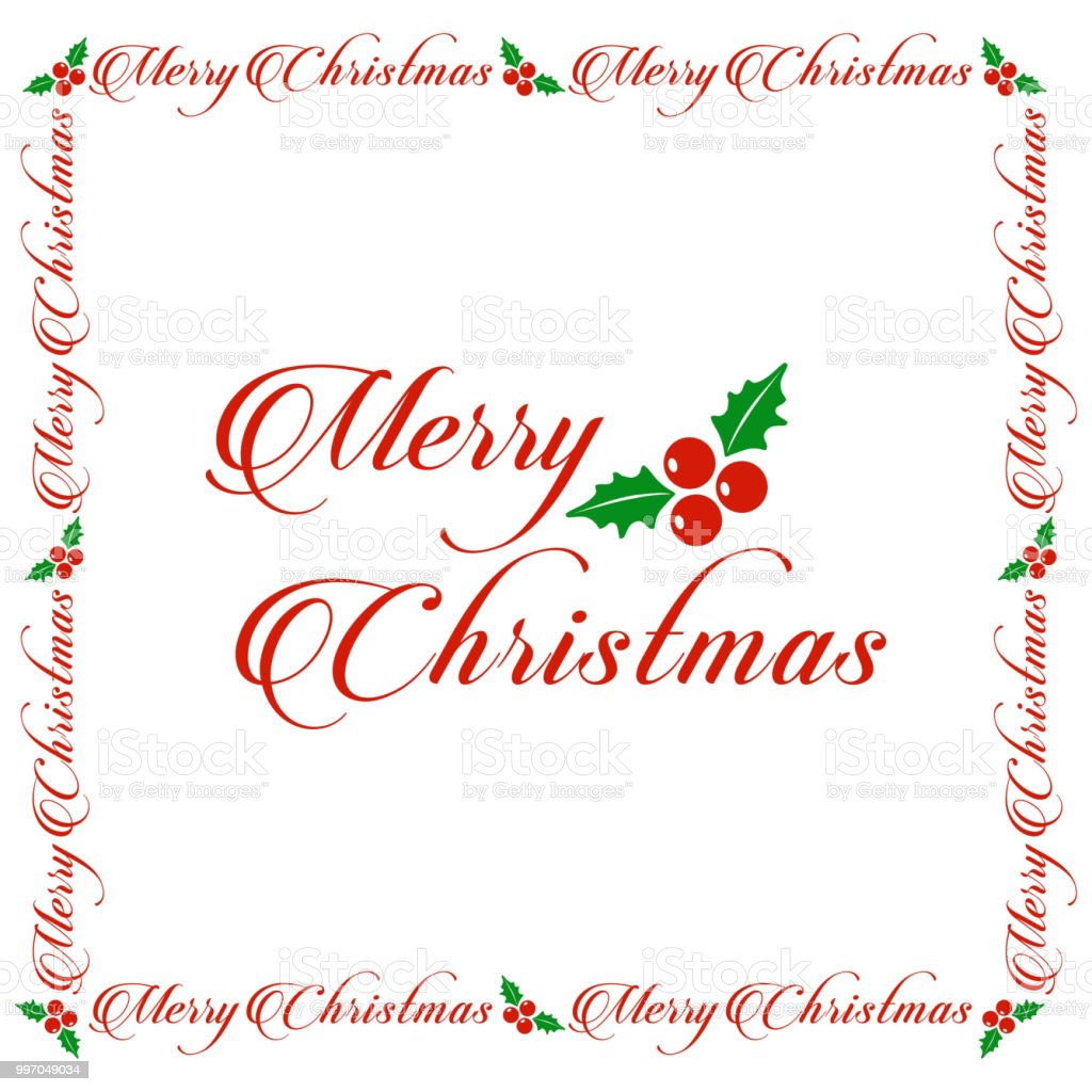 Christmas Greetings Card White Simple Background With Christmas