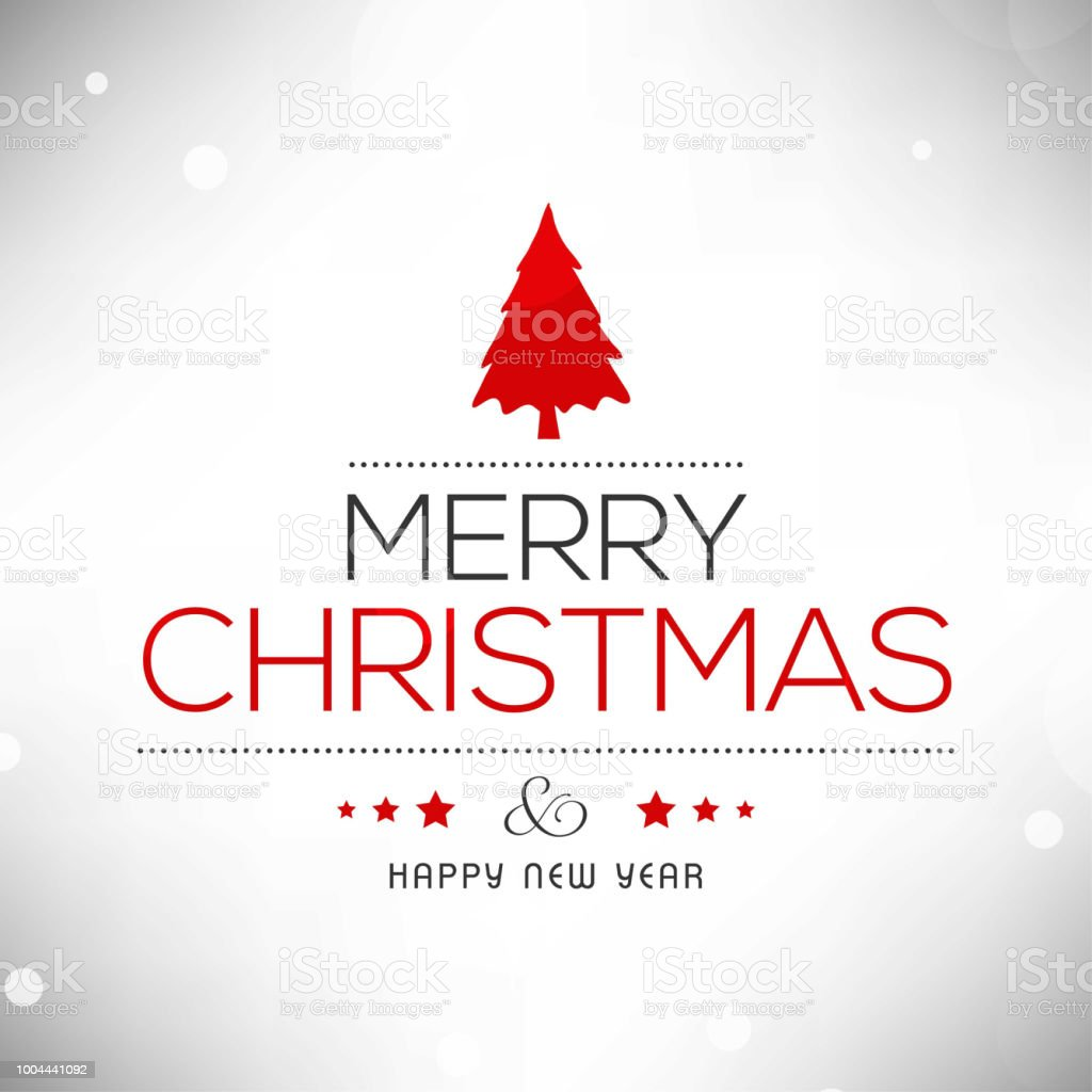 Christmas Greetings Card With Light Background Simple Typography