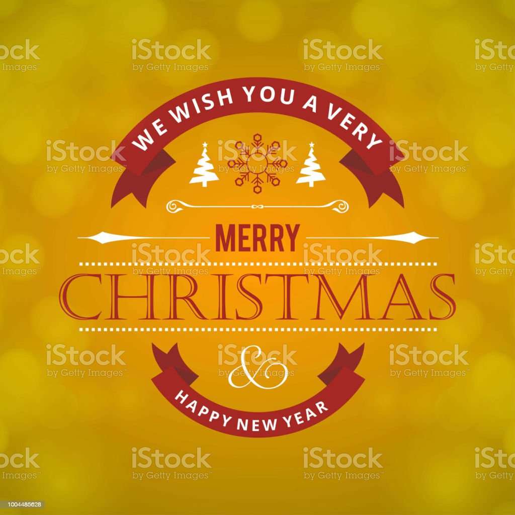 Christmas Greetings Card With Light Green Background And Christmas