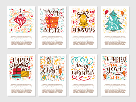 Christmas greetings cards clipart