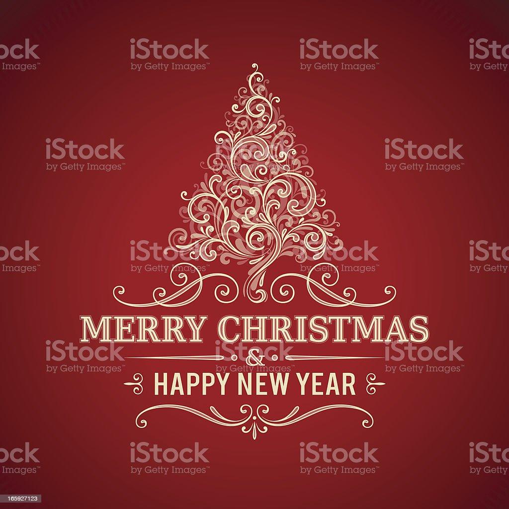 Christmas Greetings Frame royalty-free stock vector art