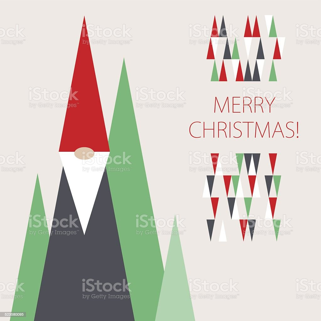 Christmas greetings frome gnome vector art illustration