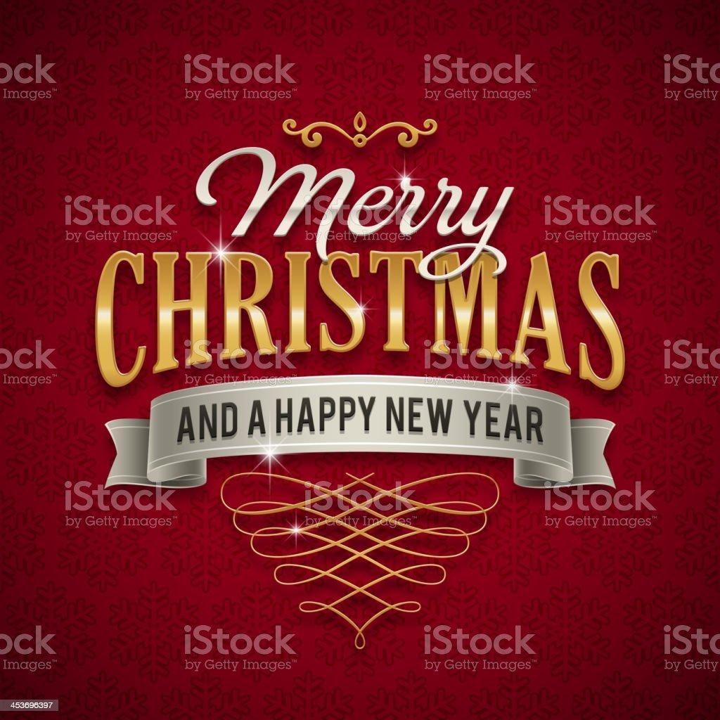 Christmas Greetings Sign vector art illustration