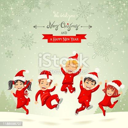 istock Christmas Happy Kids 1188598707