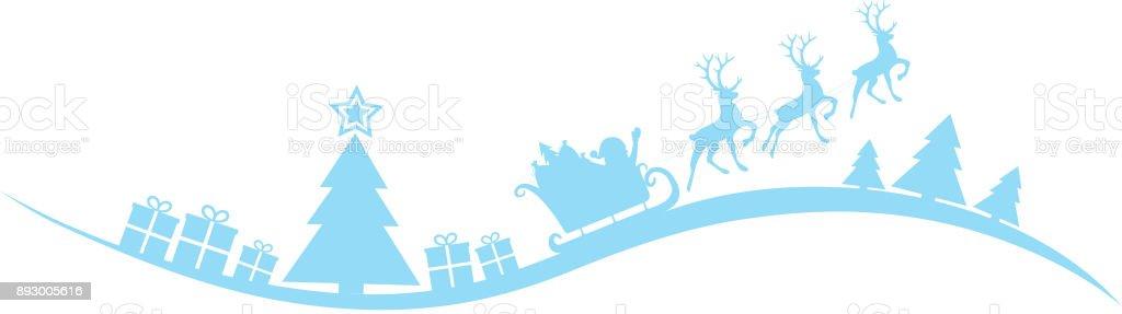 Christmas Header.Christmas Header With Santa Claus Vector Stock Illustration