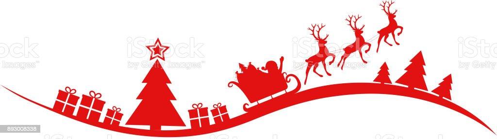 christmas header with santa claus vector stock. Black Bedroom Furniture Sets. Home Design Ideas