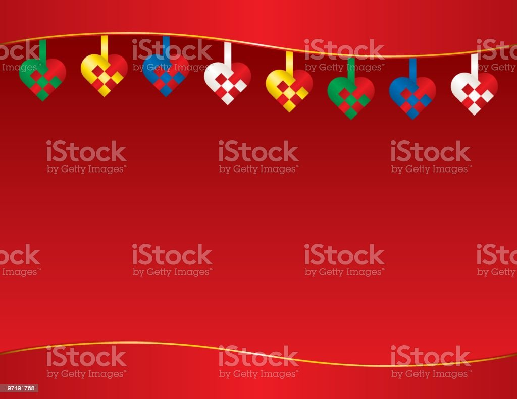Christmas Heart Baskets royalty-free christmas heart baskets stock vector art & more images of backgrounds