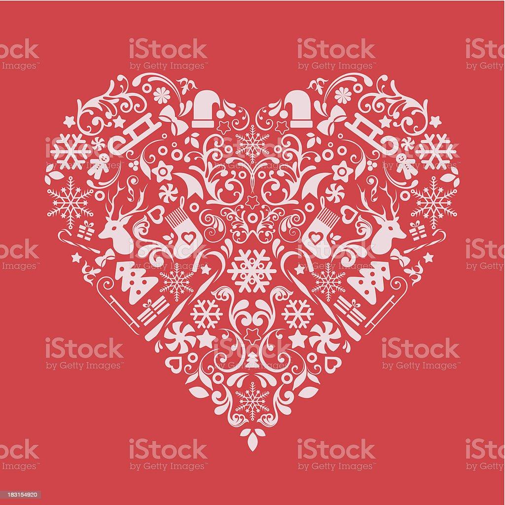 Christmas Heart Vector.Christmas Heart Stock Vector Art More Images Of Abundance