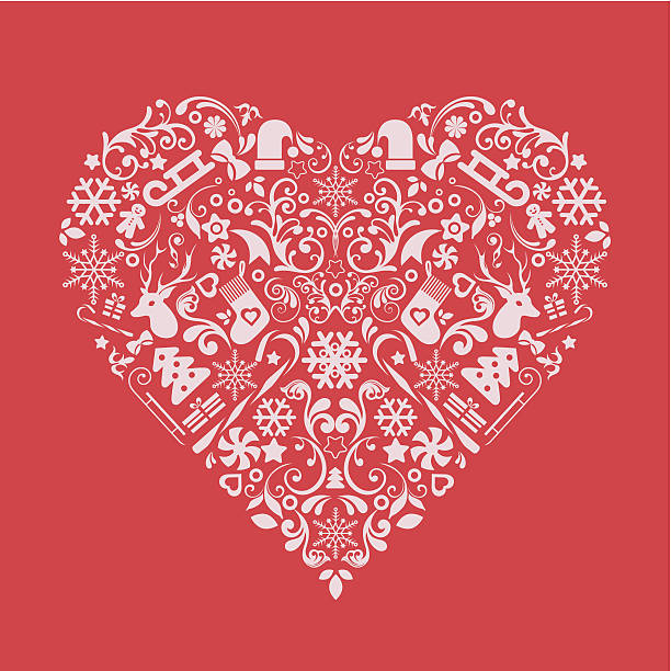 Boże Narodzenie serca. – artystyczna grafika wektorowa