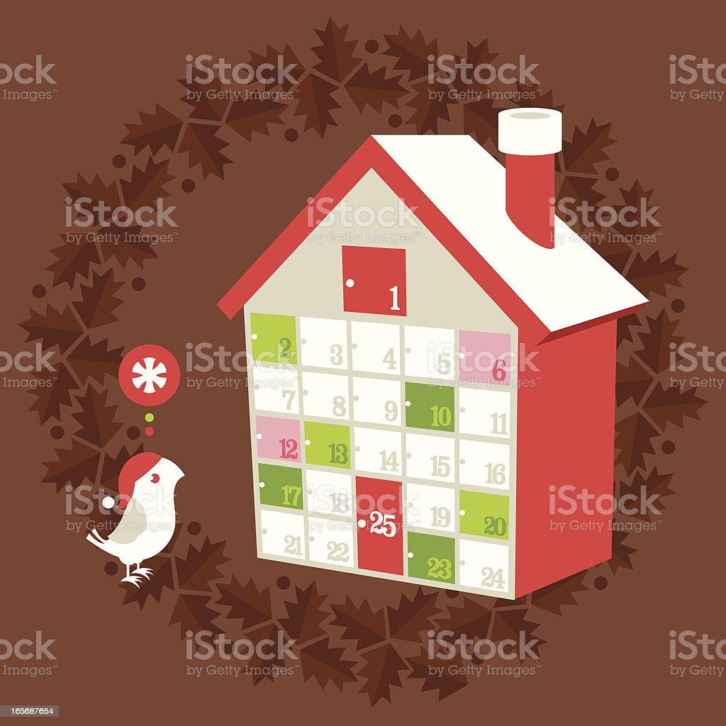 クリスマスホリデーのアドベントカレンダー ベクターアートイラスト