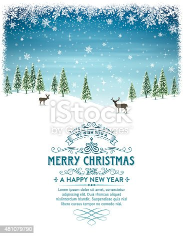 istock Christmas Holiday Background with Text 481079790
