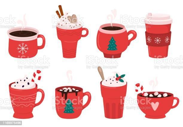 Christmas holiday coffee mug cocoa with marshmallows winter warming vector id1169975496?b=1&k=6&m=1169975496&s=612x612&h=tzqzhbmmyo49nz3xaxjow1c 4xng45bqtyjj3g1ihbu=