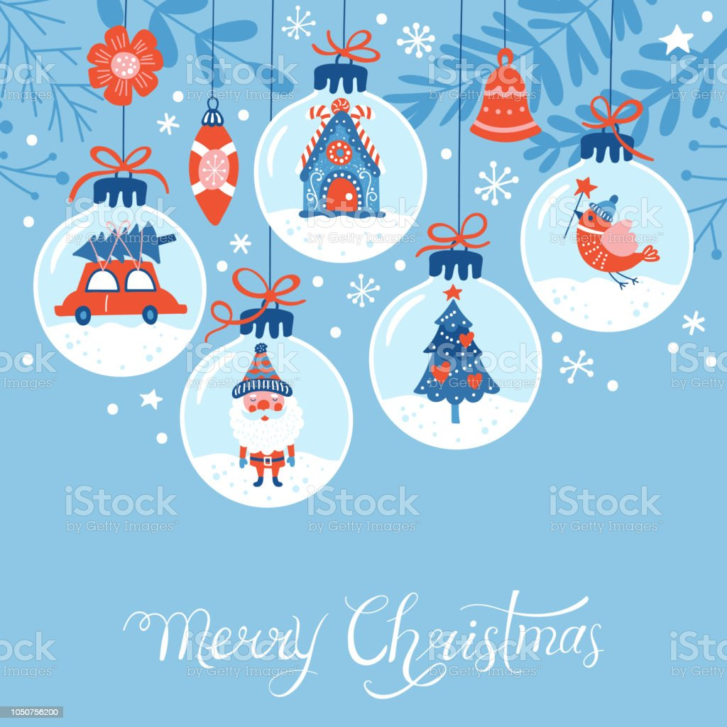 Christmas holiday cute greeting card design royalty-free christmas holiday cute greeting card design stock illustration - download image now