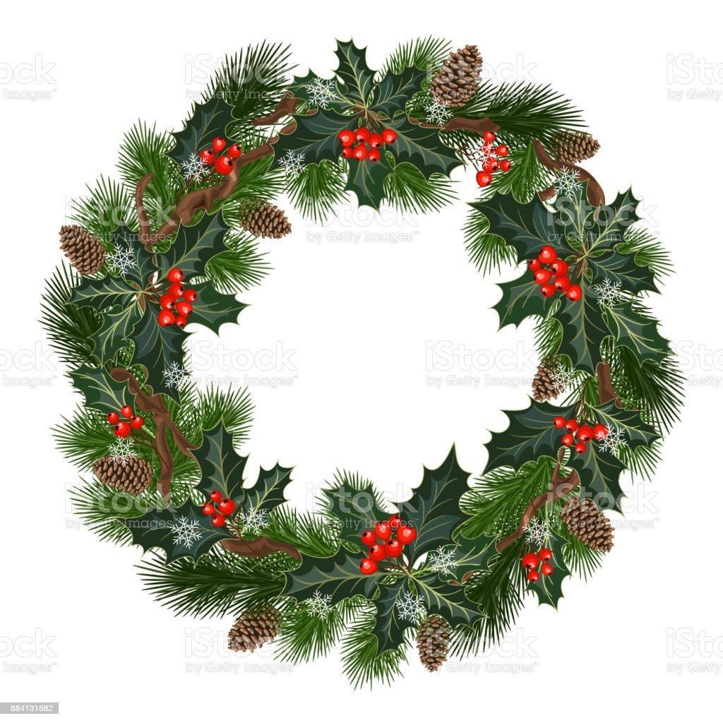 decorações do feriado de Natal - ilustração de arte em vetor