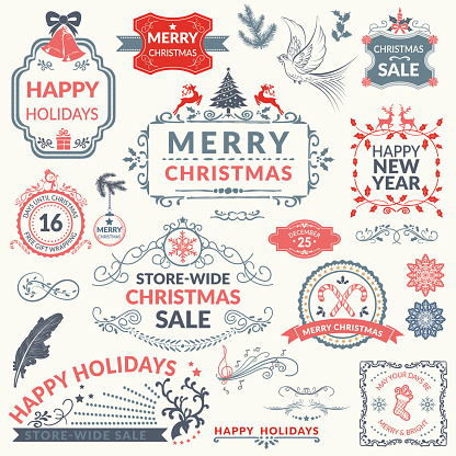Christmas Holiday Decorative Elements