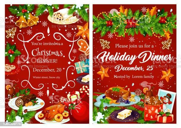Christmas holiday festive dinner invitation card vector id1064399778?b=1&k=6&m=1064399778&s=612x612&h= b99b7emchwh7uuke jece5jvlhueh  xep 4r6nc9k=