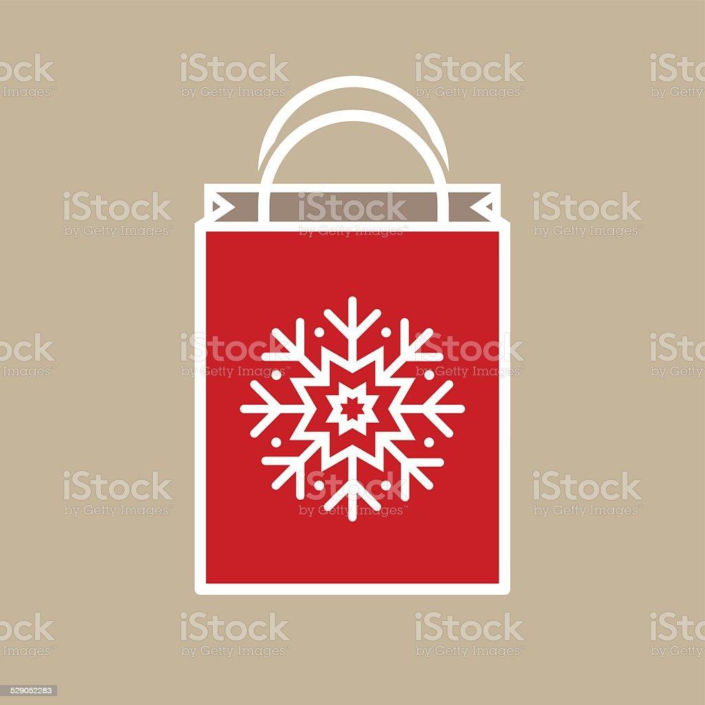 Christmas Holiday Gift Bag Stock Vector Art & More Images of Bag ...