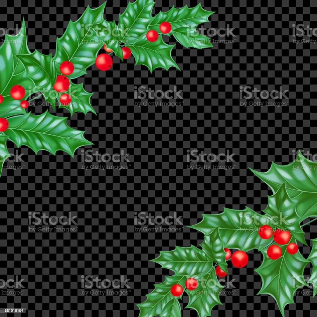 Christmas Holiday Greeting Card Background Template New Year Fir