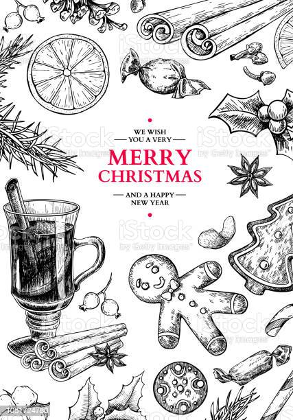 Christmas holiday greeting card vector hand drawn illustration with vector id1051724780?b=1&k=6&m=1051724780&s=612x612&h=ozgovizyvjq iibqrlrcoenzxea wyiqjqmj1tcbo8y=