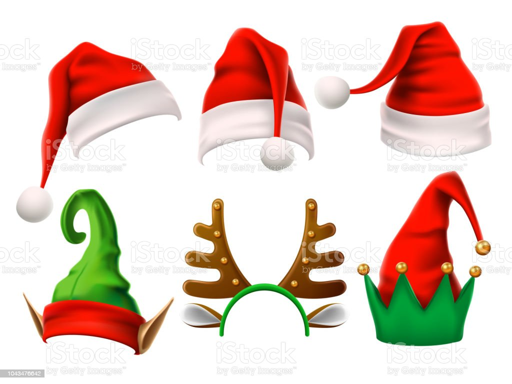 Image De Noel 3d.Christmas Holiday Hat Funny 3d Elf Snow Reindeer And Santa