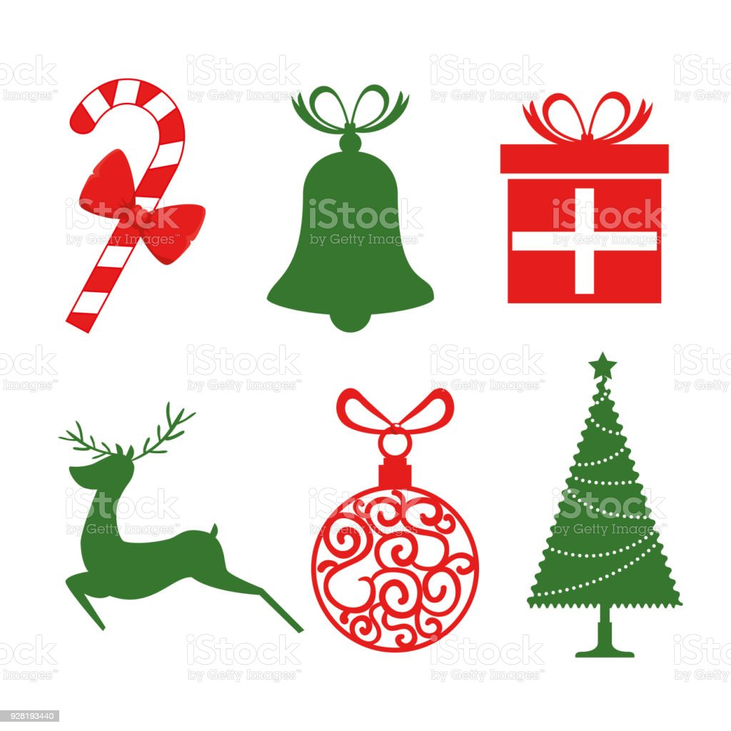 christmas holiday icons stock vector art more images of art rh istockphoto com free christmas vector art images free christian vector art