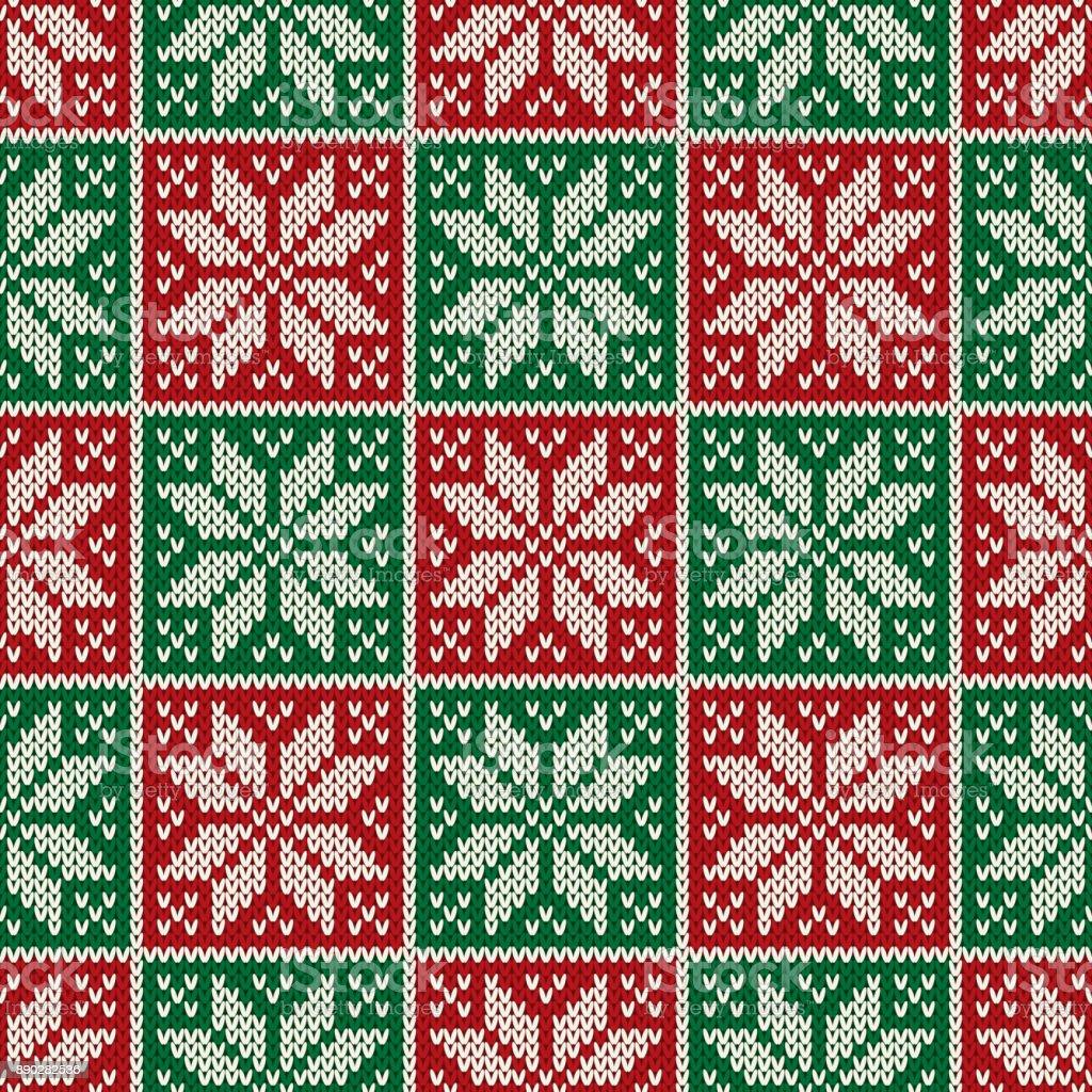 Ilustración de Patrón De Punto De Navidad Perfecta Esquema Para ...