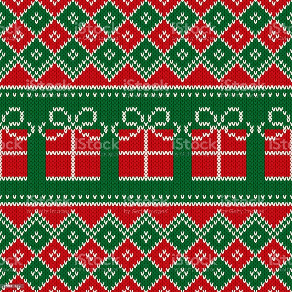 Único Media De La Navidad Patrones Que Hacen Punto Libre Imagen ...