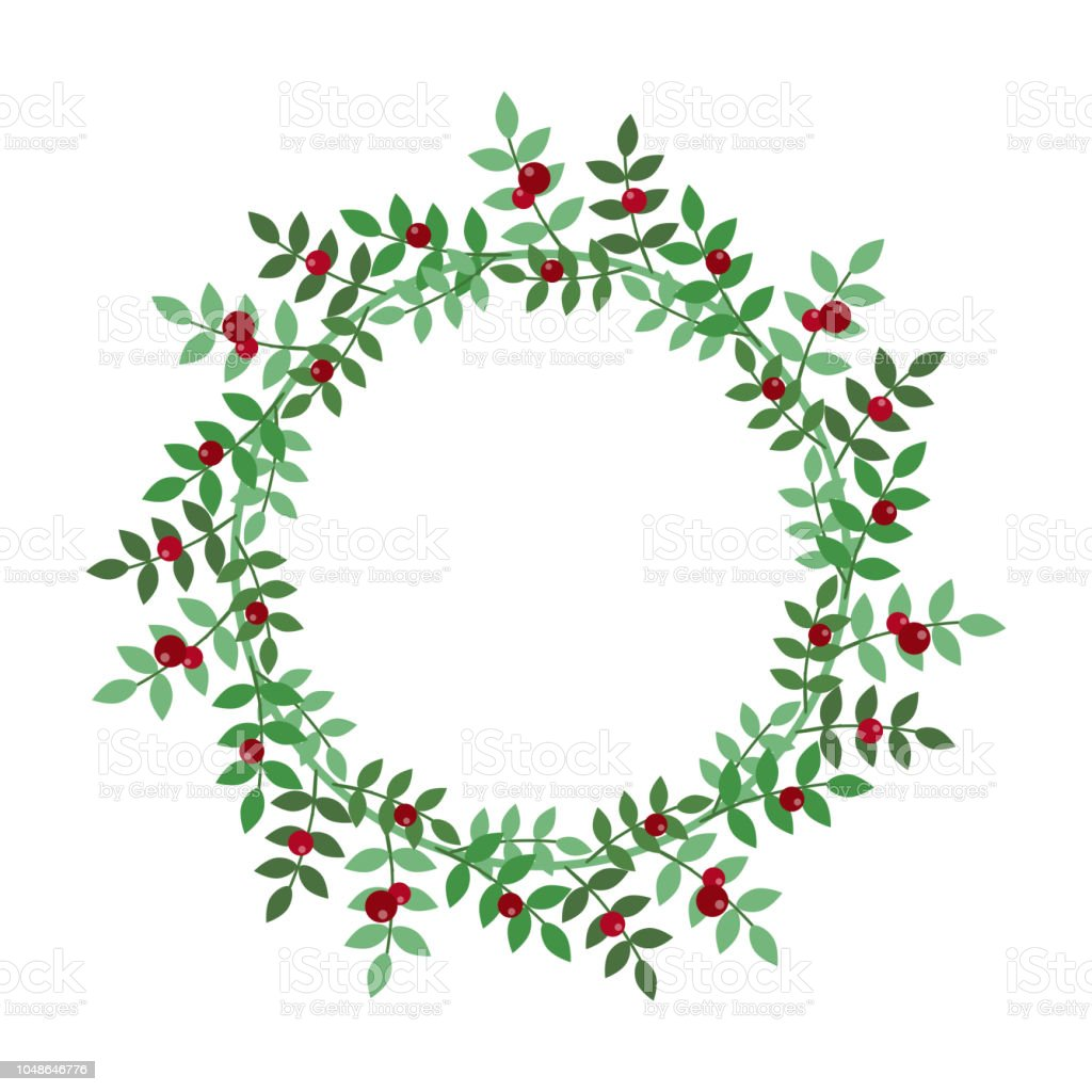 Christmas Holiday Wreath Icon Stock Illustration Download Image Now Istock