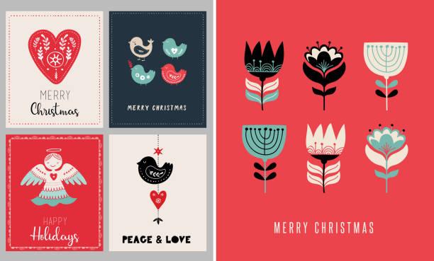 bildbanksillustrationer, clip art samt tecknat material och ikoner med julkort för helgdagar - älg sverige