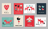 Christmas holidays greeting cards