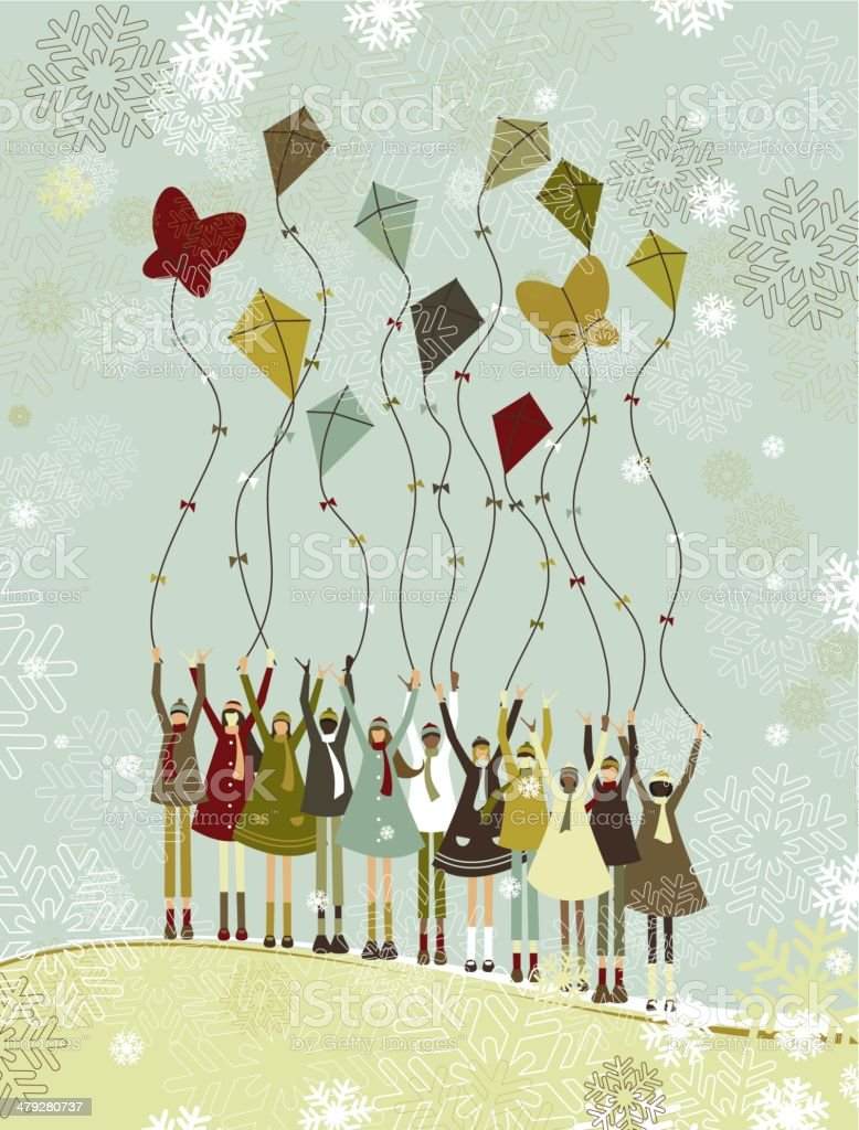 Christmas holidays vector art illustration