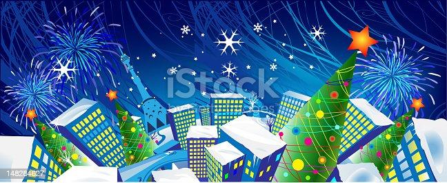 istock Christmas holliday city 148284627