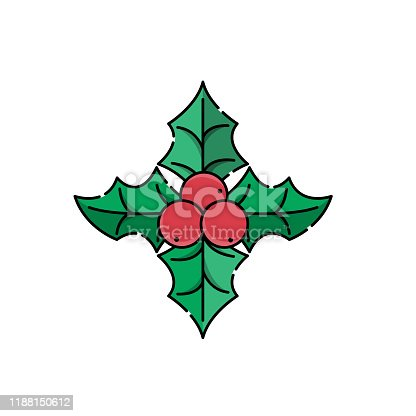 Christmas Holly Berry icon vector illustration isolated on white background. Christmas Holly Berry in trendy flat design style. Christmas Holly Berry vector icon modern and simple flat symbol for website, mobile, logo, app design. Vector EPS 10