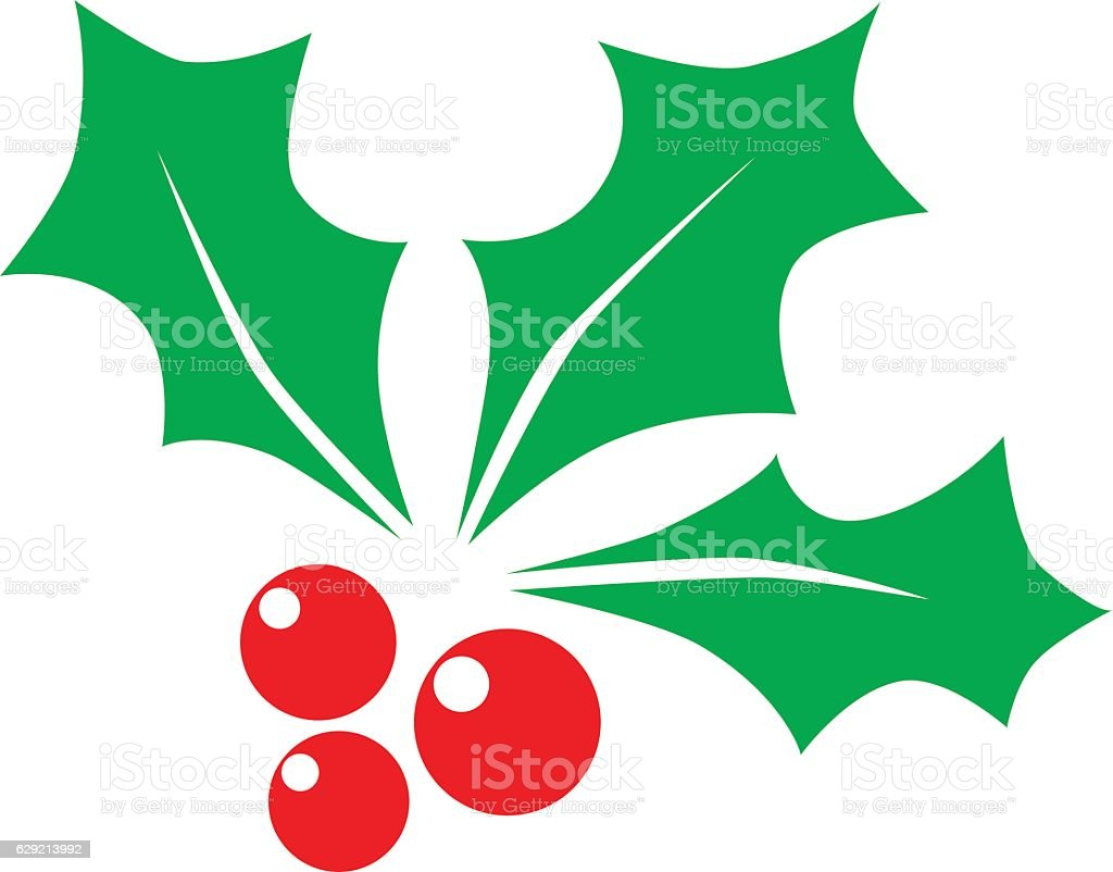 Christmas holly berry - Illustration vector art illustration