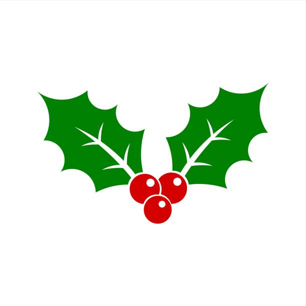 Christmas Holly Clip Art.Best Holly Illustrations Royalty Free Vector Graphics