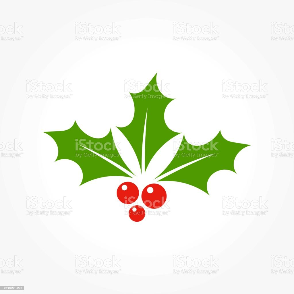 Christmas holly berry vector art illustration