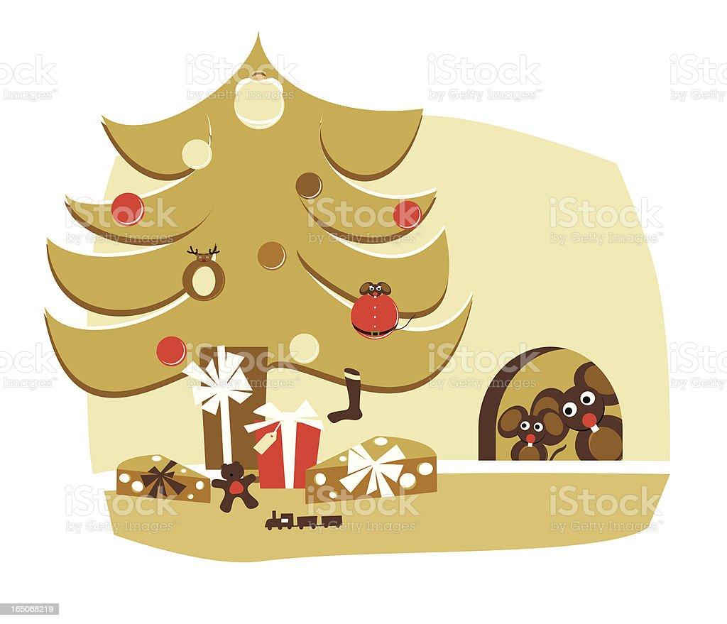 Weihnachten Szene Hause Vektor Illustration 165068219 | iStock