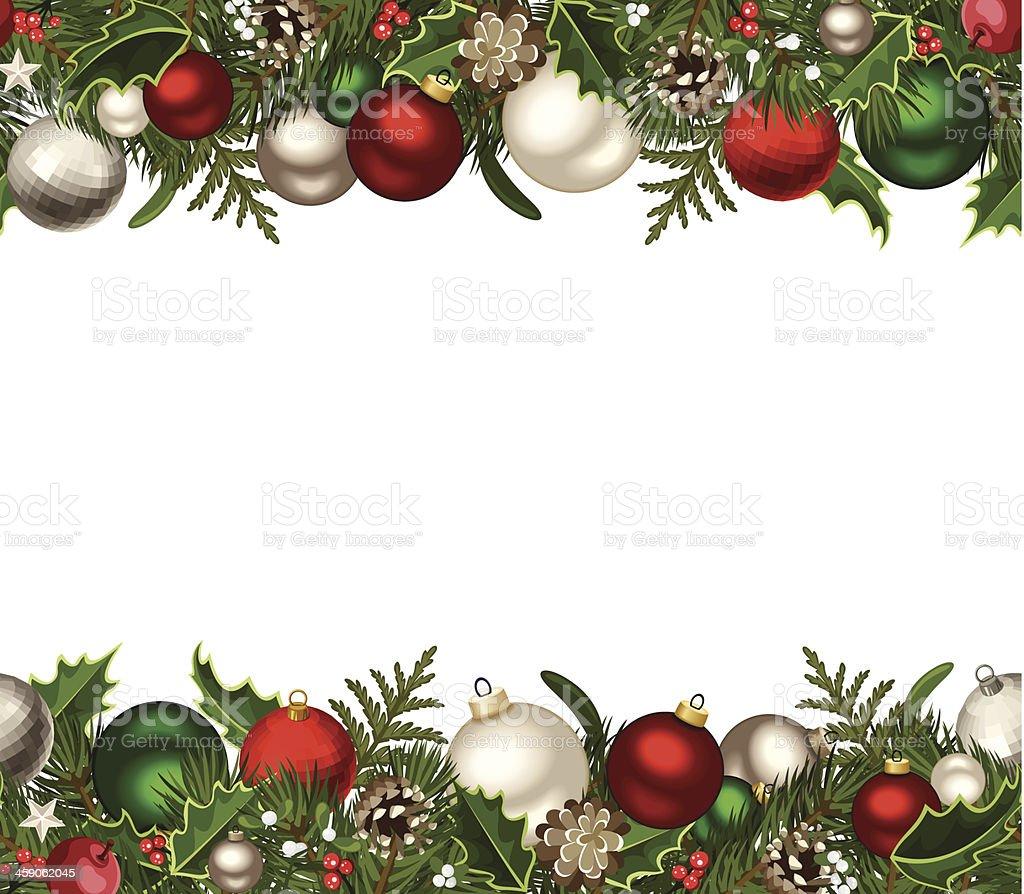 Christmas horizontal seamless background. Vector illustration. vector art illustration