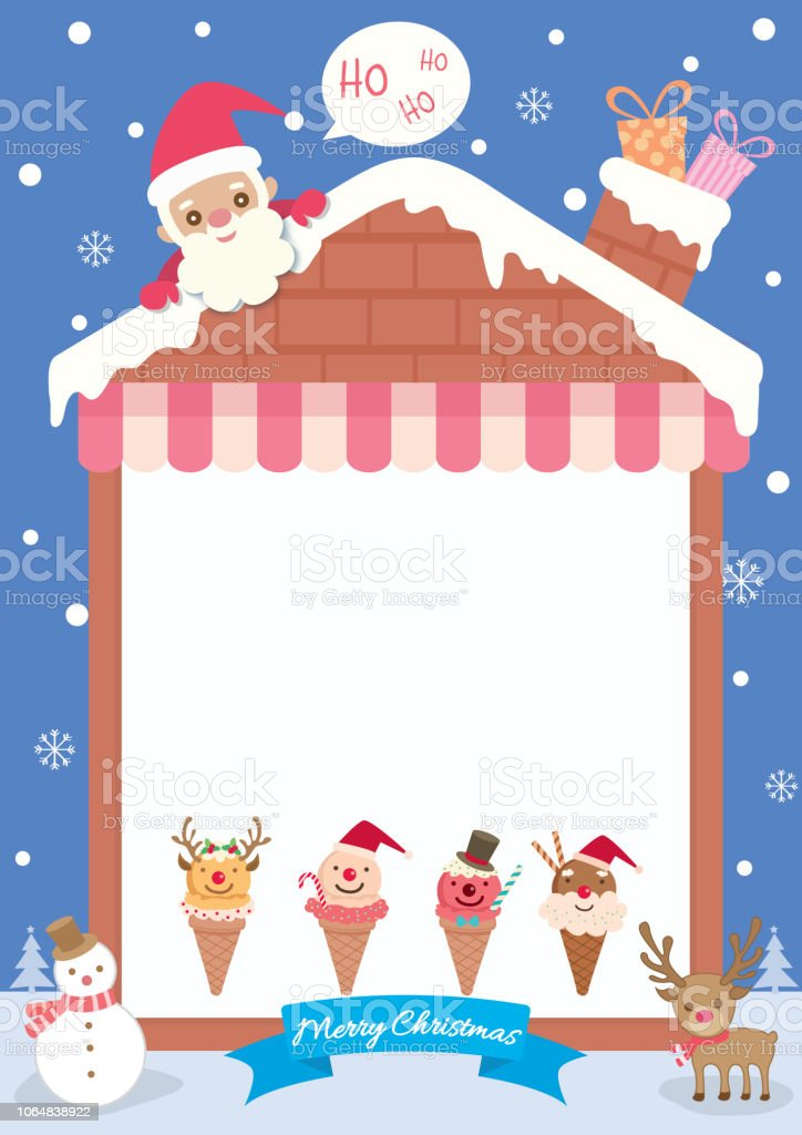 Christmas House Template Stock Illustration Download Image