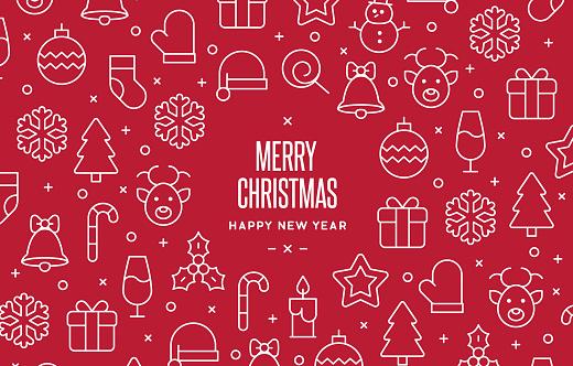 Christmas Icon Background
