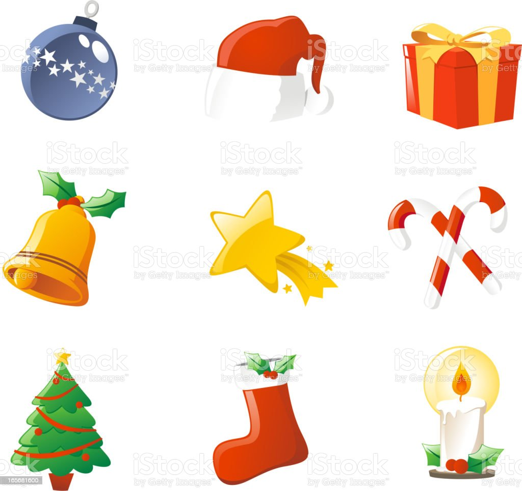 Christmas Icon Elements Set royalty-free stock vector art